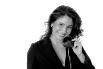Lovely Latina Girl On Telephone