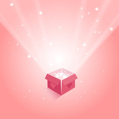 magic box with hearts gifts