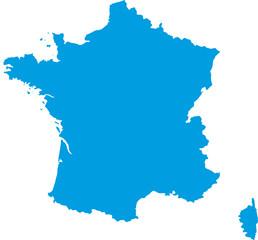 Carte de France vectorielle