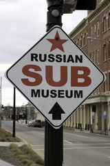 Russian Sub Museum sign