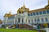 Sunset at the Royal Palace in Bangkok,Thailand poster