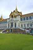 Sunset at the Royal Palace in Bangkok poster
