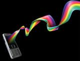 Fototapety Phone rainbow background