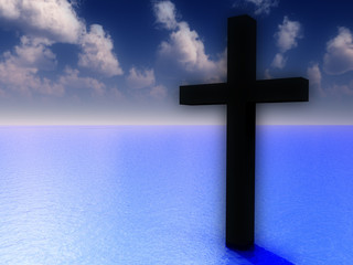 The Cross In Daytime Water
