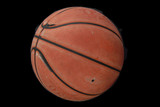 worn-out basketball
