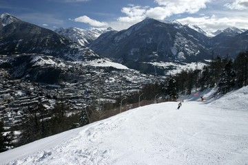 Ski slope in Briancon