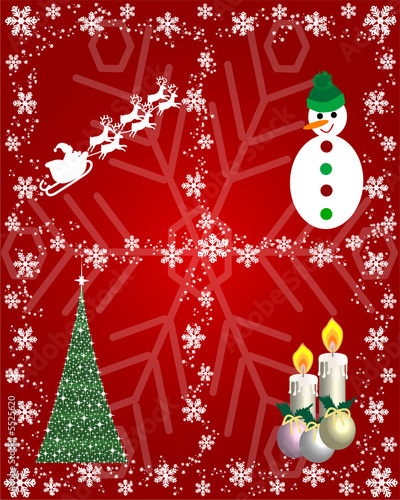 Postal de navidad con motivos navide os fotos de archivo - Motivos navidenos dibujos ...