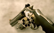 magnum revolver loaded with only one shot