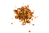 A small pile of crushed red pepper isolated on white. poster