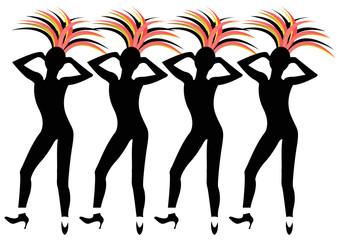 female dancers in Las Vegas