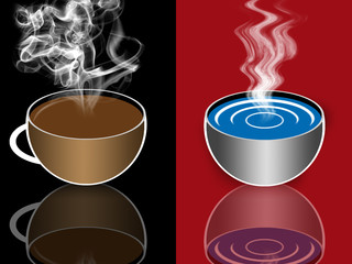 Tee, Kaffe, Wasser, Cacao.....