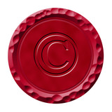 Wax seal with engraved copyright symbol poster