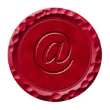 Wax seal with email symbol poster
