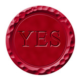 Wax seal with yes engraved poster