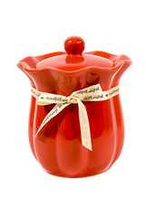 Red Candle Jar