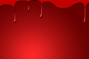 Blood drops on dark red background