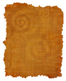 Old papyrus texture with swirling motif poster