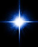Bright sparkling star poster