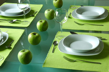 Trendy dining table setting