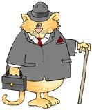 Gentleman Cat poster