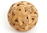 Woven bamboo ball poster
