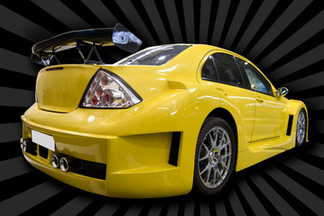 yellow customized car