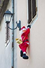 Santa Claus on the wall