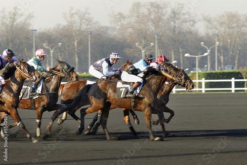 Papiers peints Equestre Course de chevaux