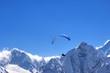 nice parachute in the sky