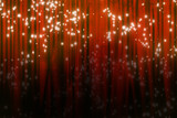 Movie or theater curtain with glitters poster