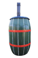 gutter and water barrel for roof water collecting