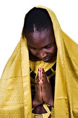 Young woman Zimbabwe, traditional clothing, Christian look