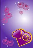 alliances et coeurs saint valentin