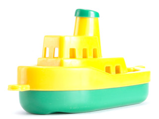 Plastic toy ship