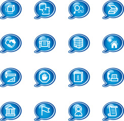 bubble building icons