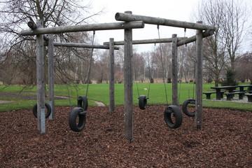 Einsamer Kinderspielplatz