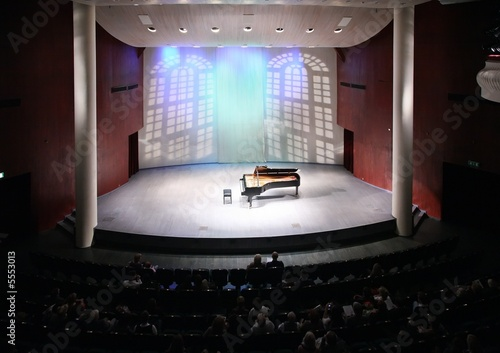 view of scene in concert hall