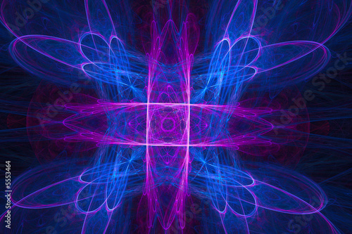 Beautiful background of neon and magenta colors over black