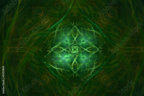 Beautiful green backround with vivid center area over black