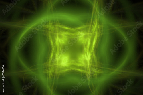 Abstract  yellow - green backgroung over black