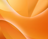 Abstract background with smooth lines, in orange tones poster