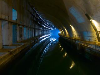 Old underground shiprepairing dockyard