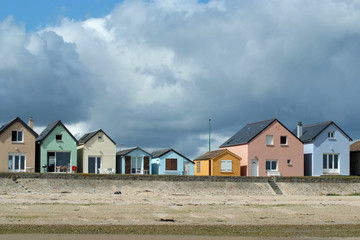 Multicolored traditional sailor houses