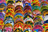 Local crafts and souvenirs in Cancun Mexico poster