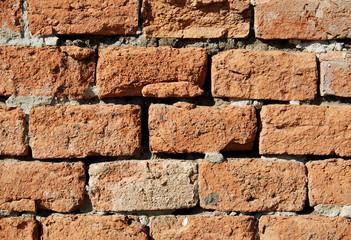 Detail of old brick wall..