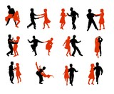 lets dance - silhouetten poster