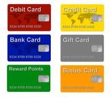 Credit, Debit, Bank, Gift + Bonus Card poster