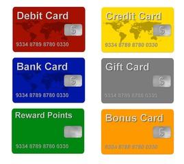 Credit, Debit, Bank, Gift + Bonus Card