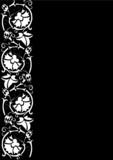 floral ornamental strip poster