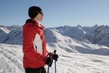 Nordic walking in winter 7 poster